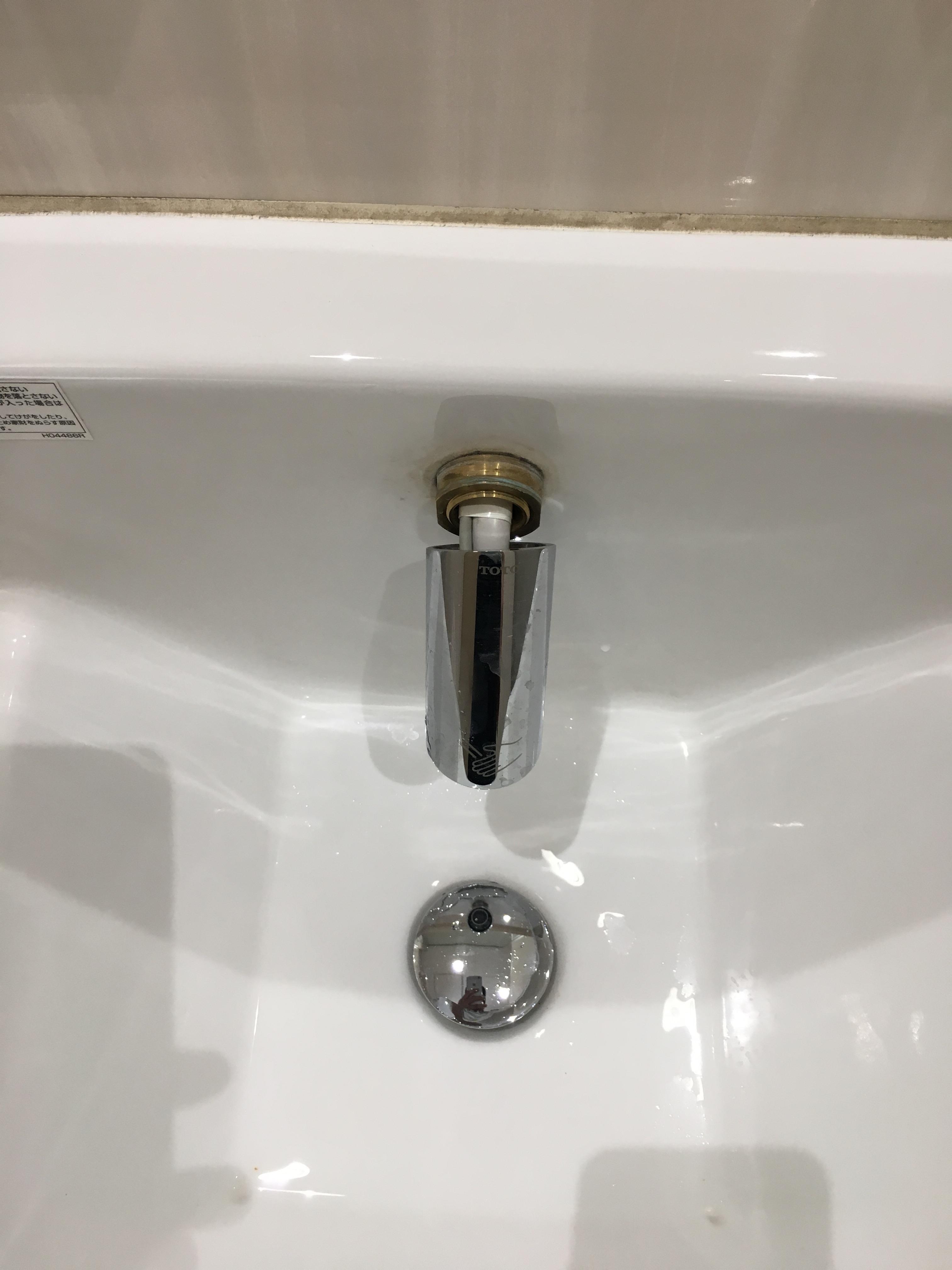 壊れていたトイレ洗面台の蛇口