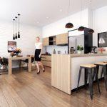 L字型キッチンのイメージ